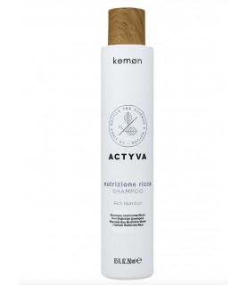 Kemon Actyva Nutrizione Ricca szampon do bardzo suchych włosów 250 ml