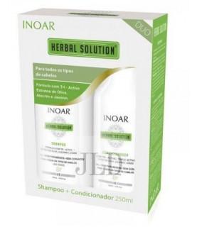 INOAR Herbal Solution zestaw nawilżający dla włosów po keratynowym prostowaniu