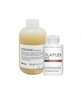 Olaplex i Davines zestaw wzmacniający do pielęgnacji i stylizacji włosów