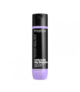 Matrix Unbreak My Blonde odżywka wzmacniająca do włosów osłabionych rozjaśnianiem 300 ml - min 1
