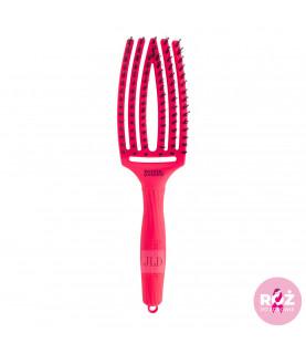 Olivia Garden Fingerbrush Neon Pink szczotka z włosia dzika