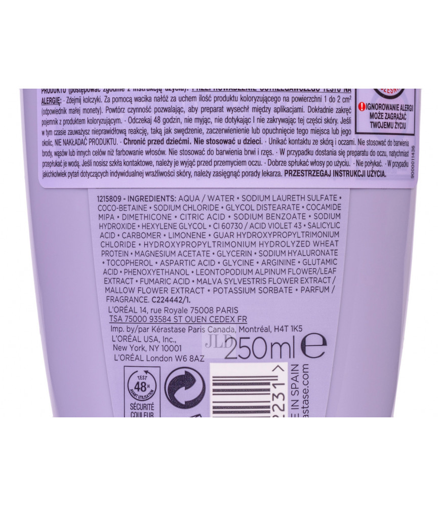 Kérastase Blond Absolu Ultra-Violet szampon niwelujący żółte odcienie 250 ml - zdj 2